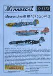 X48173  1/48 Messerschmitt Bf-109s with Stab markings Pt 2 decals (14)